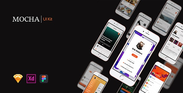 Mocha Mobile UI Kit - Creative Sketch