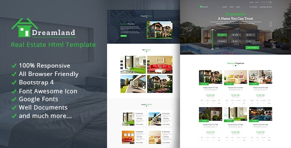 Dreamland - Real Estate HTML Template