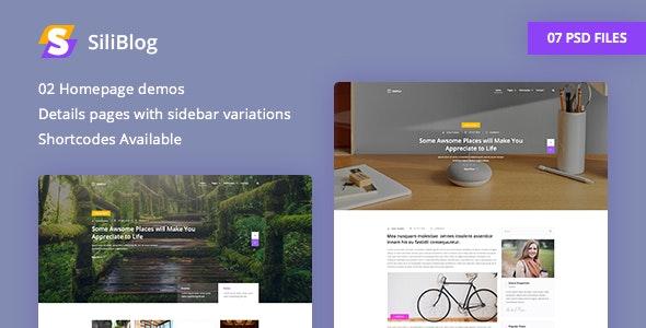 SiliBlog - Creative and Minimal Blog PSD Template - Personal Photoshop