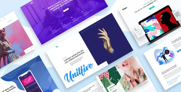 Unit Five - Creative Multipurpose PSD Template for Agency and Corporate - Creative Photoshop