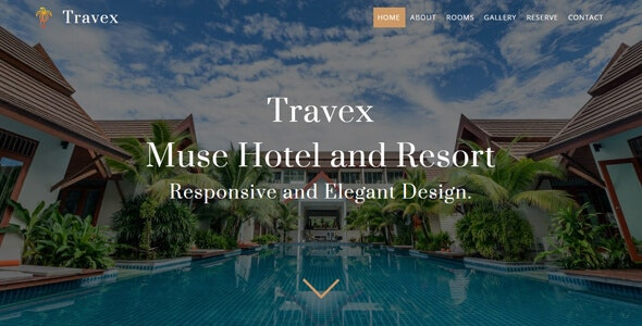 Travex _ Hotel and Resort Muse Template - Corporate Muse Templates