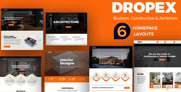 Dropex - Business Construction & Architecture Template - Business Corporate