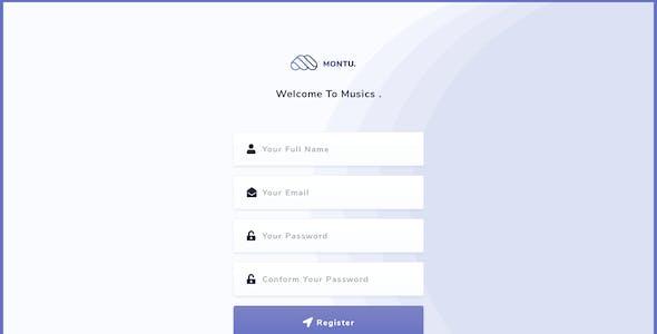 Montu - Social Music Sharing Platform PSD Template