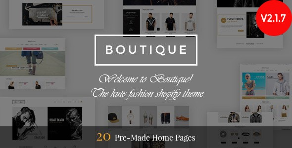 Boutique - Responsive Shopify Theme by The4 | ThemeForest