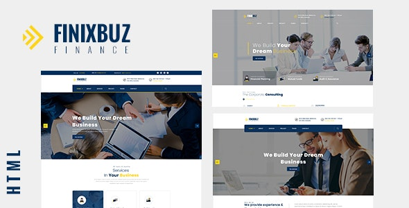 Finixbuz - Corporate & Financial Business HTML5 Template - Corporate Site Templates