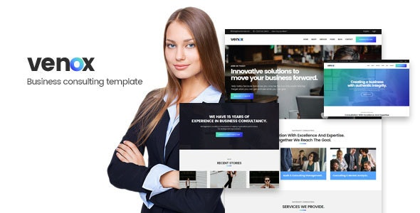 Venox - Business and Consulting HTML Template - Business Corporate