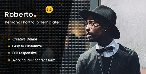 Roberto - Personal Portfolio Template - Personal Site Templates