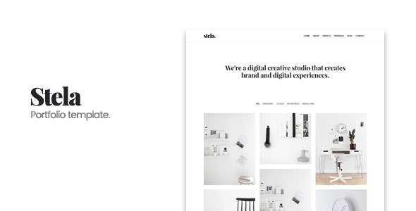 Stela - Minimal Portfolio HTML Template - Portfolio Creative