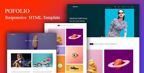 pofolio - modern Portfolio HTML Template - Portfolio Creative