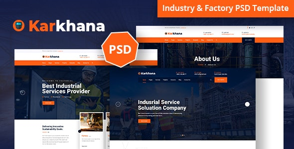 Karkhana - Industry & Factory PSD Template - Business Corporate
