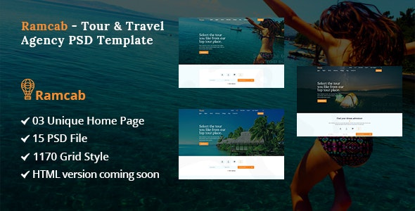 Ramcab - Tour & Travel Booking PSD Template - Travel Retail