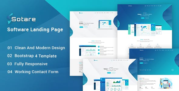 Sotare - Software Landing Page HTML Template