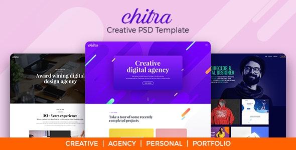 Chitra - Creative PSD Template - Creative Photoshop