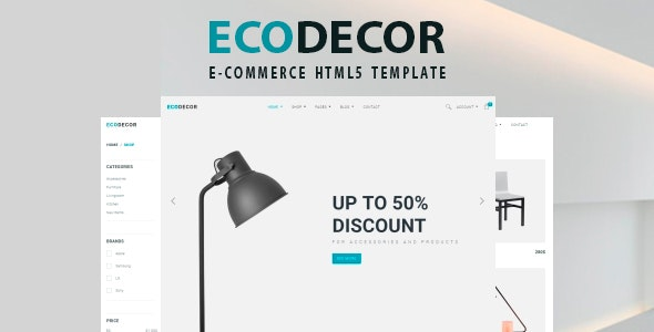 ECODECOR - Bootstrap 4 eCommerce Template - Shopping Retail