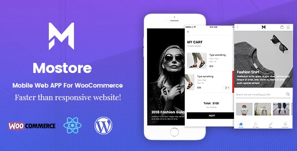 Mostore - WooCommerce Mobile Progressive Web App - Mobile Site Templates
