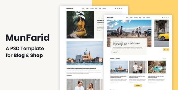 Munfarid - A PSD Template For Blog & Shop - Creative Photoshop