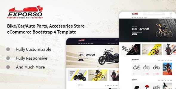 Exporso - Bike Parts & Accessories HTML Template