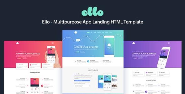 ELLO - Multipurpose App Landing HTML Template - Software Technology