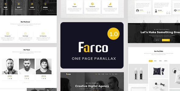 Farco - One Page Parallax - Creative Site Templates
