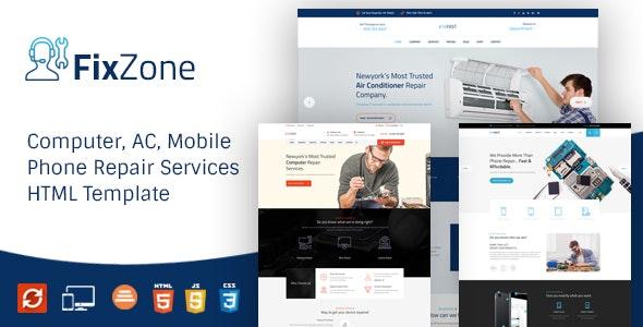 FixZone - Electronics Repair HTML Template - Business Corporate