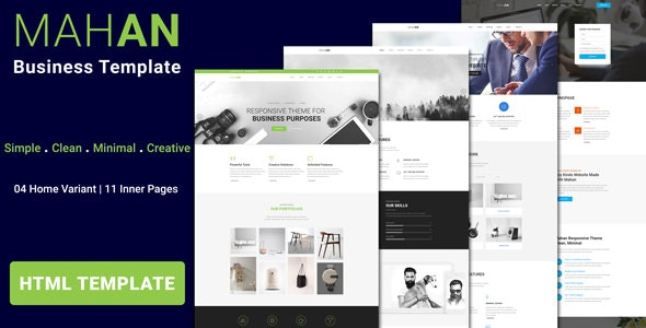 MAHAN - Multipurpose Agency Corporate HTML Template - Corporate Site Templates