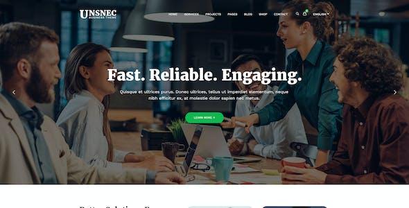 UNSNEC - Business PSD Template
