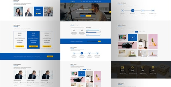 Soft-Agency PSD Template - Business Corporate