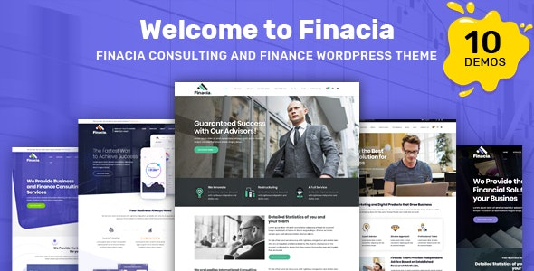 Finacia - Finance & Business WordPress Theme - Corporate WordPress