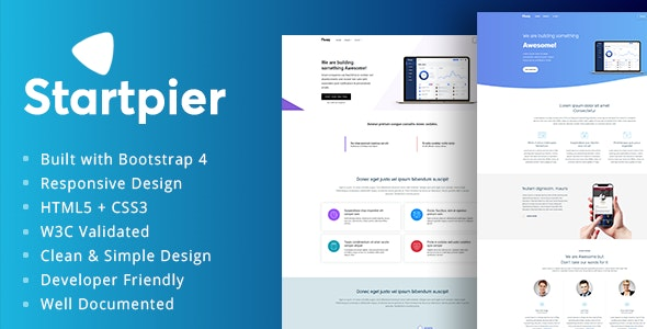 Startpier - SaaS Templates for Startups - Corporate Site Templates