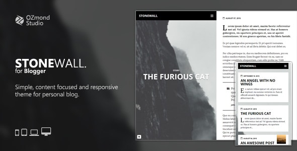 StoneWall: A Theme for Writers and Journalists - Blogger Blogging