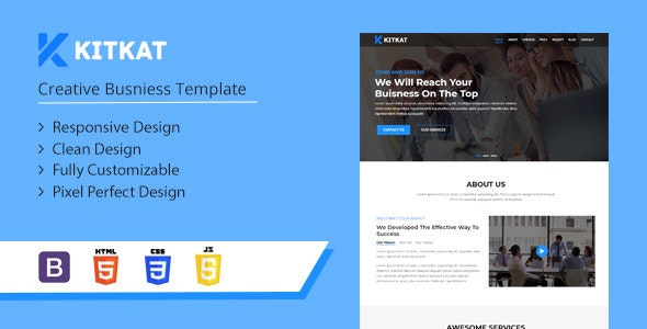 Kitkat - One Page Business Template - Business Corporate
