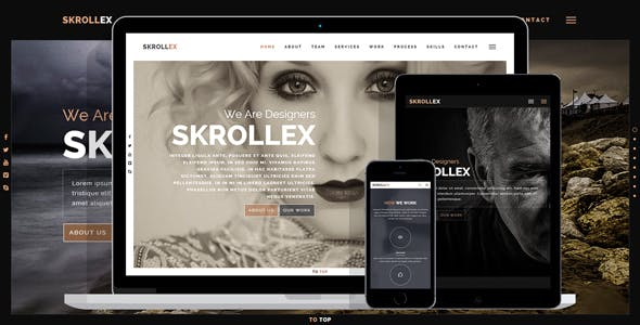 Skrollex - Creative One Page Parallax by x40