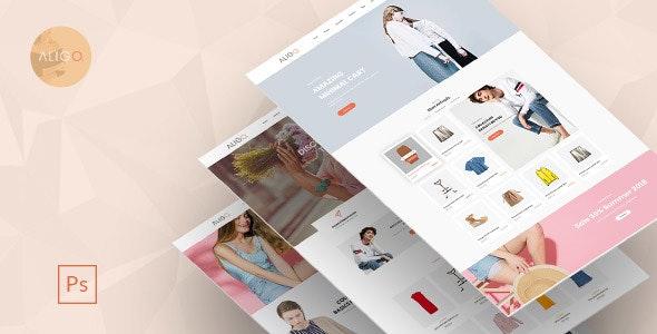 Aligo – Minimalist Ecommerce PSD Templates - Fashion Retail