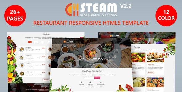 Spice 'n' Steam - Restaurant, Food & Drinks HTML 5 Website Template - Restaurants & Cafes Entertainment