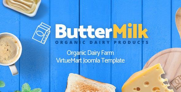 ButterMilk - Organic Dairy Farm VirtueMart Joomla Template