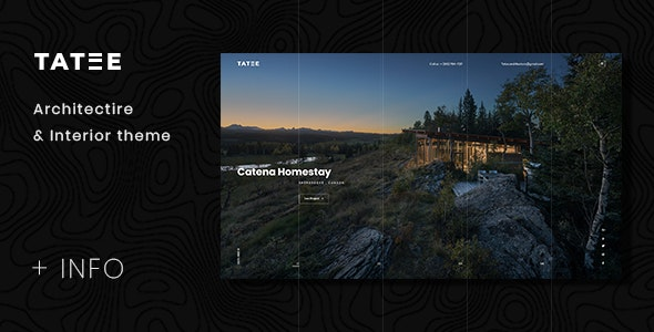 Tatee - Architecture and Building Business PSD Template - Portfolio Creative