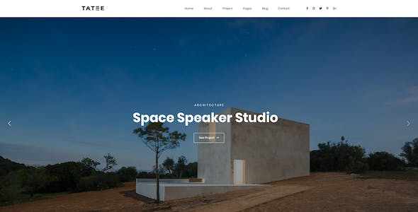 Tatee - Architecture and Building Business PSD Template