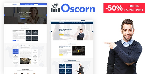Oscorn - Business Finance HTML Template - Marketing Corporate