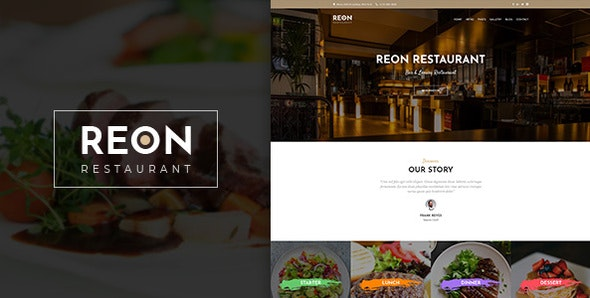 Reson | Restaurant PSD Template - Food Retail