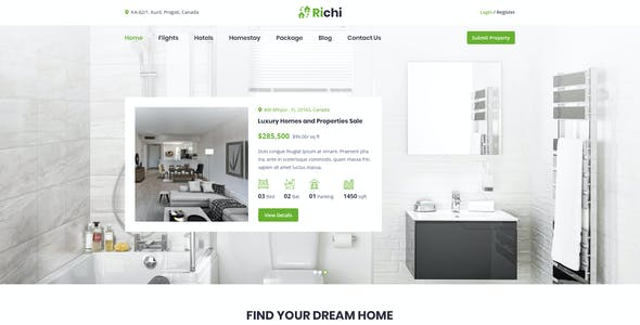 Richi - Real Estate PSD Template