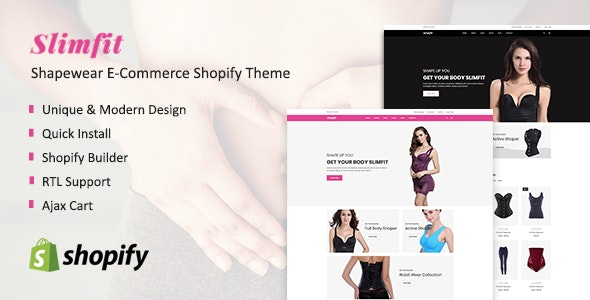 Slimfit - Shapewear Shopify Theme - Health & Beauty Shopify