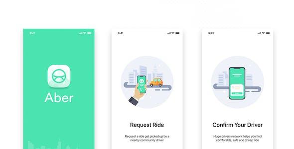 ABER - Taxi UI Kit for Mobile App