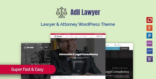 Adil - Lawyer & Attorney WordPress Theme