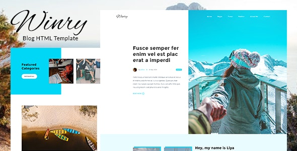 Winry - Creative Responsive Blog HTML Template - Personal Site Templates