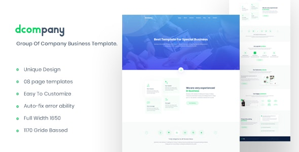 Dcompany - Group Of Company Business Template - Business Corporate