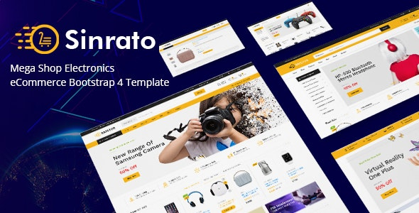 Electronics eCommerce HTML Template - Sinrato - Shopping Retail