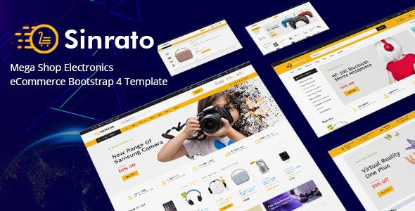 Electronics eCommerce HTML Template - Sinrato