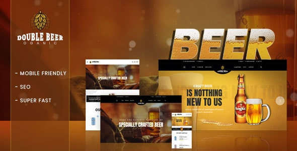 Double Beer – Section Shopify Theme 2018 For Beer Store Online - Shopify eCommerce