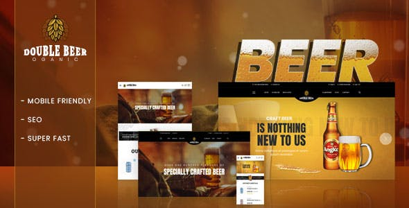 Double Beer – Section Shopify Theme 2018 For Beer Store Online