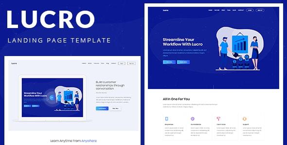 Lucro – Responsive Bootstrap 4 Landing Template - Technology Site Templates